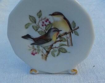 PORCELAIN BIRD PLATE