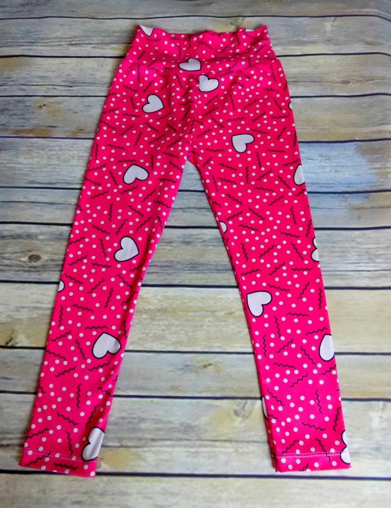 11e5371770b06d Valentine's Day Leggings Girls Confetti Heart Leggings | Etsy