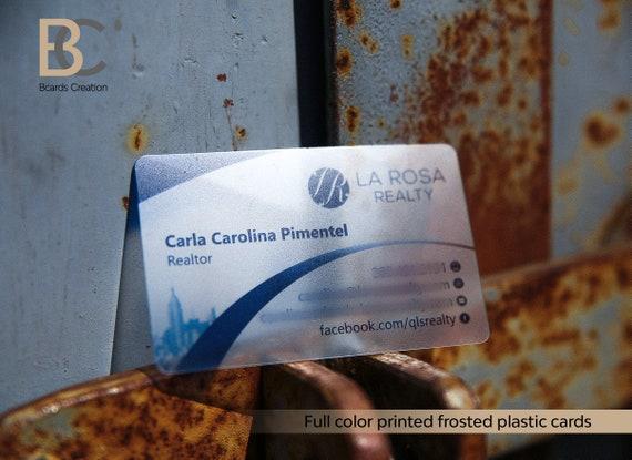 Transparente Karte Kunststoff Pvc Matt Personalisierte Business Name Karten Benutzerdefinierte Design Klar Visitenkarte