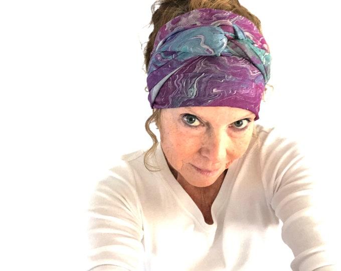 All Season Luxury Silk Modal Art Scarf, Natural Fabric Shawl, Designer Head Scarf