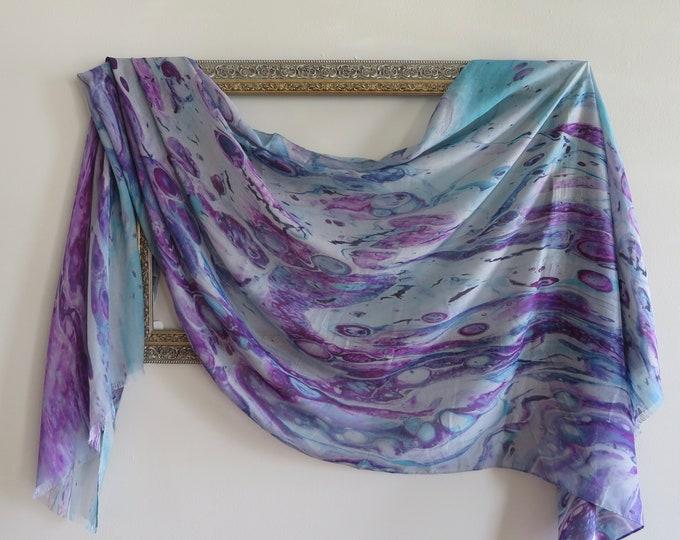All Season Luxury Silk Modal Scarf, Organic Blend Scarf, Lightweight Travel Shawl, Gift Ideas for Women