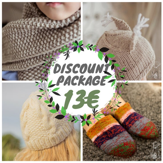 6c1e23d5f44 DISCOUNT PATTER PACKAGE %  Knitted wool socks   Kids squirrel