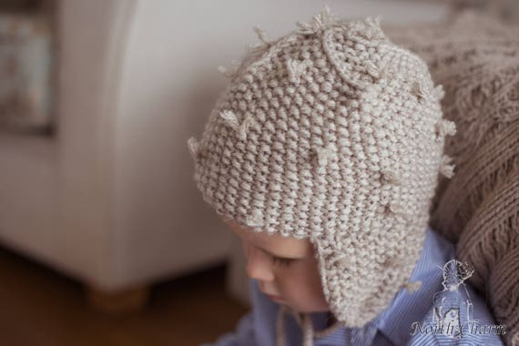 NEW    KNITTING PATTERN  Kids hedgehog hat   Knitted Winter  0d733abf9f4