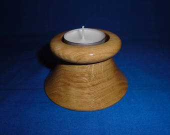 Handmade Wooden Tea-Light Holder, made in Oak.