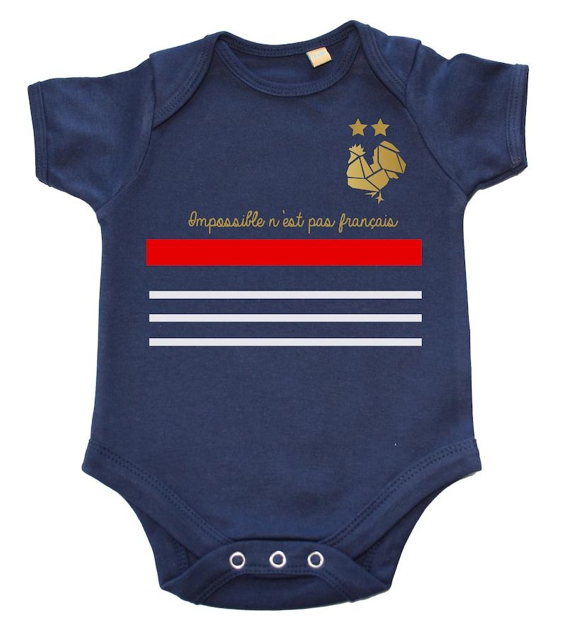 2018 World Cup football shirt 2 stars baby Bodysuit image 0