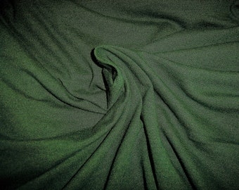 """Performance Moisture Wicking Jersey Knit Fabric Forest Green 60"""" x 66"""""""