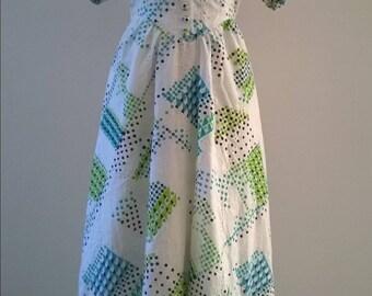 Beautiful vintage summer dress, 70s. Size 36/38