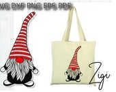 Nordic gnome svg, Christmas gnome cut files, scandinavian gnome svg files for cricut, clipart, dxf, png