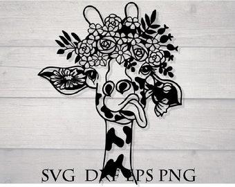 Giraffe Svg Etsy