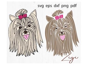 Yorkie Svg Yorkie Whisperer Svg File Animal Svg Yorkshire Etsy