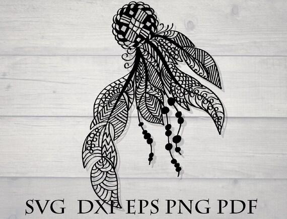 Feather Svg Mandala Veer Tribal Svg Etsy