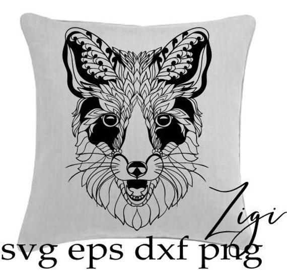 Tribal Fox Svg Fox Mandala Svg Intricate Svg Files For Etsy