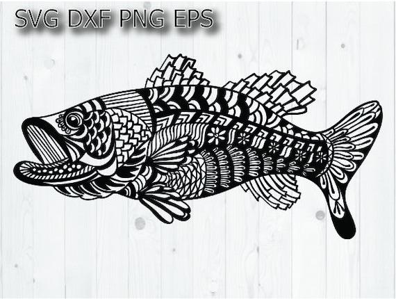 Download Bass Fishing Svg Largemouth Bass Svg Etsy
