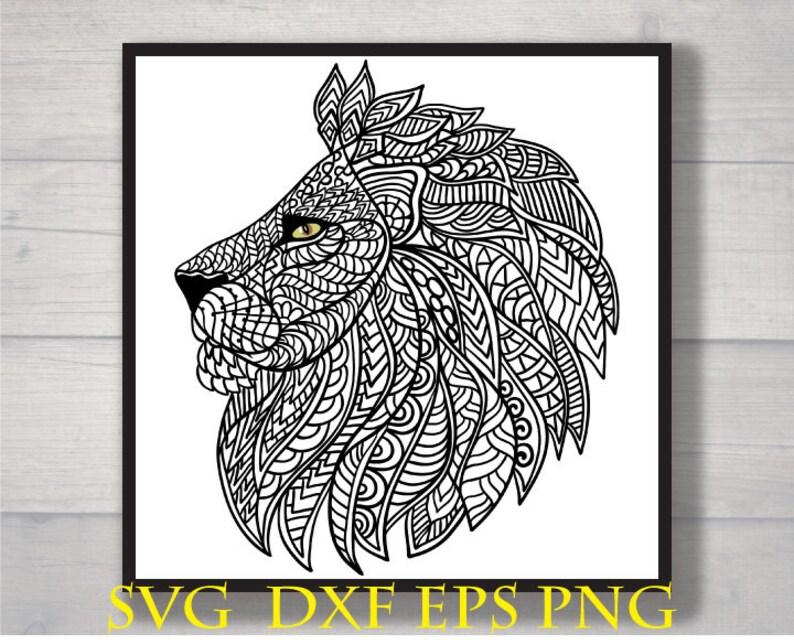 Download Mandala lion svg | Etsy