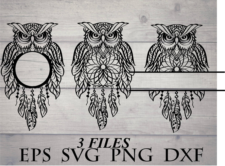 Dreamcatcher owl svg   Etsy
