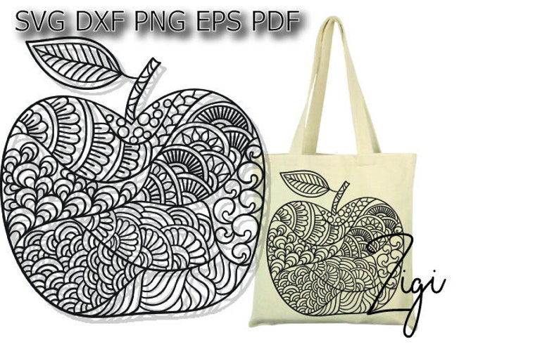 Mandala Apple Svg Apple Cut File For Cricut Silhouette Etsy