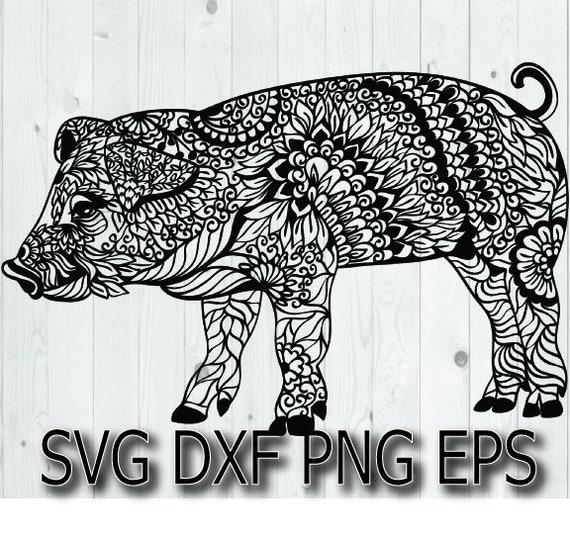 Show Pig Svg Piggy Svg Piglet Svg Pig Mandala Animal Etsy