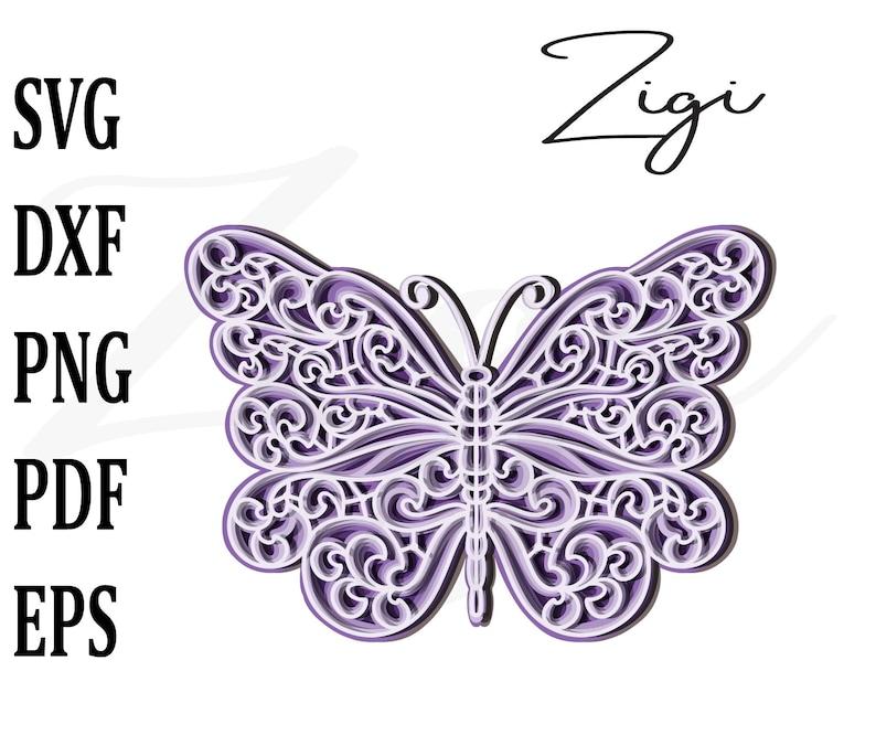 Download 3d butterfly svg multi layer mandala svg layered mandala ...
