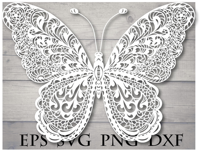 Mandala butterfly svg zentangle | Etsy