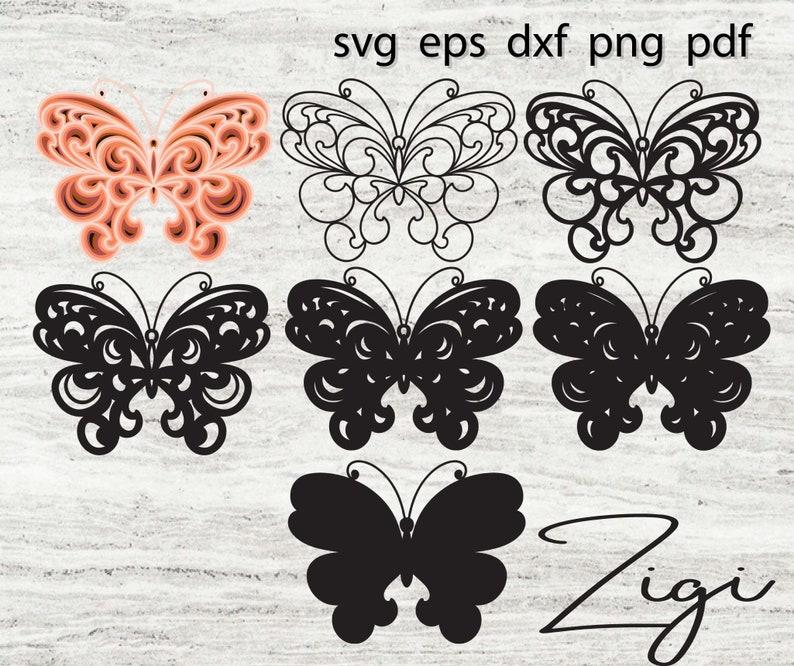Download 3D layered mandala svg butterfly svg   Etsy