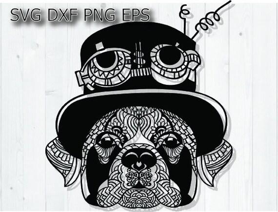 Boxer Svg Dog Mandala Svg Steampunk Svg Digital Download Etsy