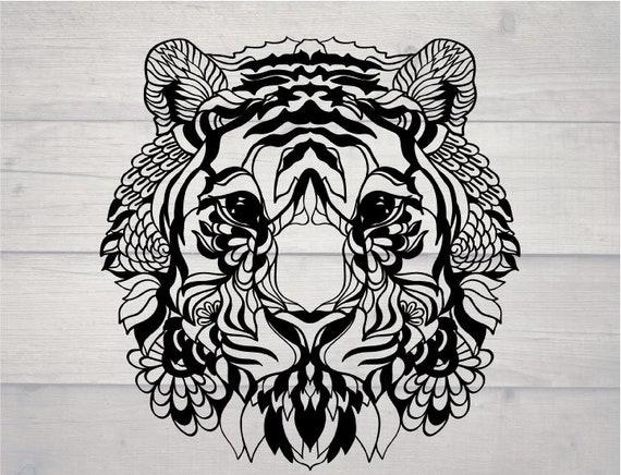Tiger Head Svg Etsy