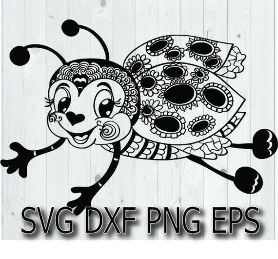 Ladybug SVG Vector Black and white Ladybug SVG animals svg love bug svg Instant download design for cricut or silhouette nature svg