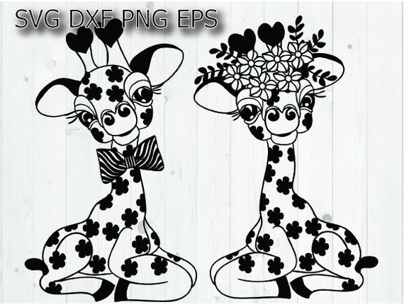 Giraffe Svg Files For Cricut Etsy
