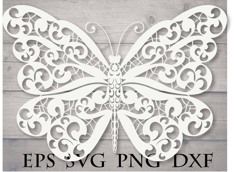 Mandala butterfly svg | Etsy