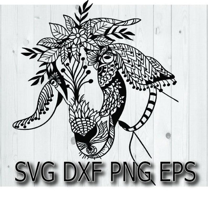 Download Zentangle Goat svg / flower crown svg files for cricut ...