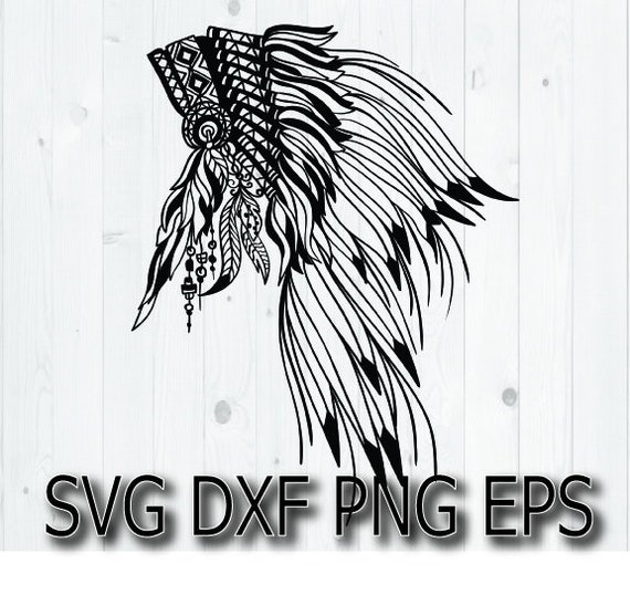 Chieftain Svg Ethnic Apache Tribal Warrior Svg Cut Files Etsy