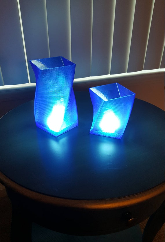 LED translucent with usb switch Printed 3D Lamp blue tdCxrhQs