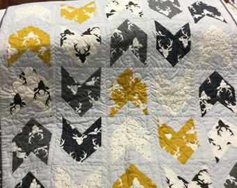 Pow-Wow Baby quilt (crib size) Woodland theme