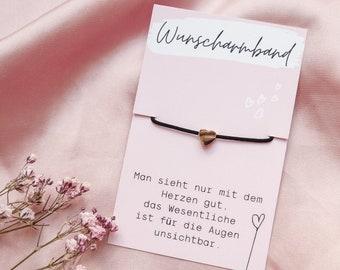 """Desired bracelet """"Heart"""" rose gold / Waterproof"""