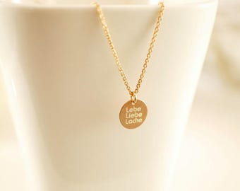 Chain ~ Live. Love. Pool ~ 925 Silver ~ Rosé