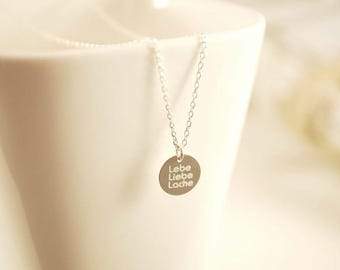 Chain ~ Live. Love. Pool ~ 925 Silver