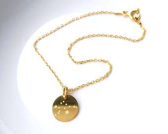 "Bracelet ~ ""star sign"" ~ 925 silver Gold Plated"