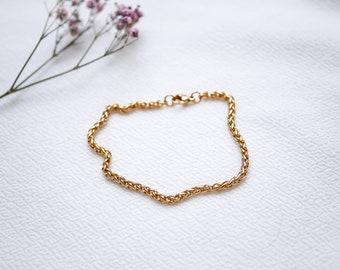 """Bracelet """"Fischgrät"""" Gold"""