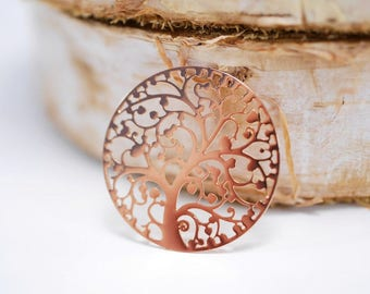 Inrading plates ~ Tree of Life ~ Roségold