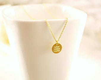 Chain ~ Live. Love. Pool ~ 925 Silver ~ Gold