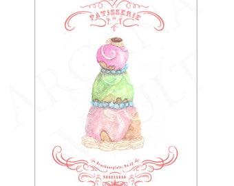 Wes Anderson Grand Budapest Hotel Mendl's Inspired Print - Courtesan Au Chocolat / fine art print / poster / gift / birthday/ fantastic mr