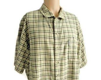 Columbia 100% Cotton Check Casual Shirt Size XXL