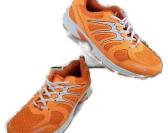 J & G Size 7 Med European Sneakers, Athletic Shoe's Orange