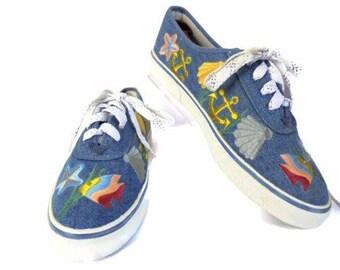 Sebastino Size 7 Med Darling Boat Shoe, Walking Shoe