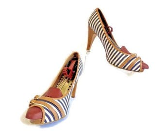 """CANDIE""""S Size 9 Med Fabric Peep Toe Dress Shoe 's"""