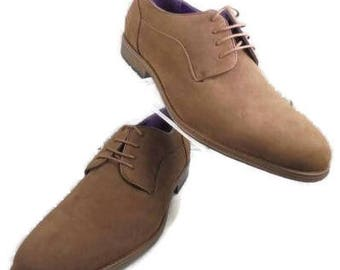 New Size 12 Med. Brown Suede Lace Up From Arider