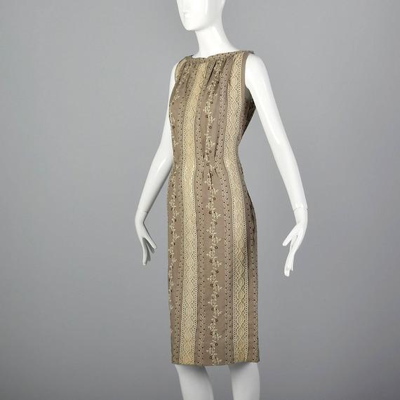 XS 1960s Moygashel Irish Linen Dress Sleeveless P… - image 3
