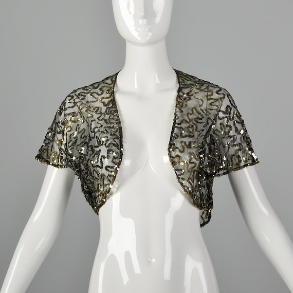 Small 1930s Sequin Bolero Soutache Bolero Shrug Ja