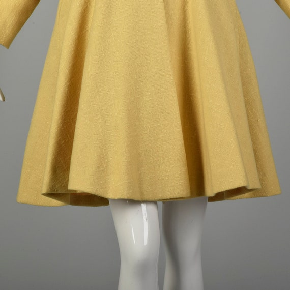 Small 1950s Princess Coat Yellow Wool Spring Rock… - image 6