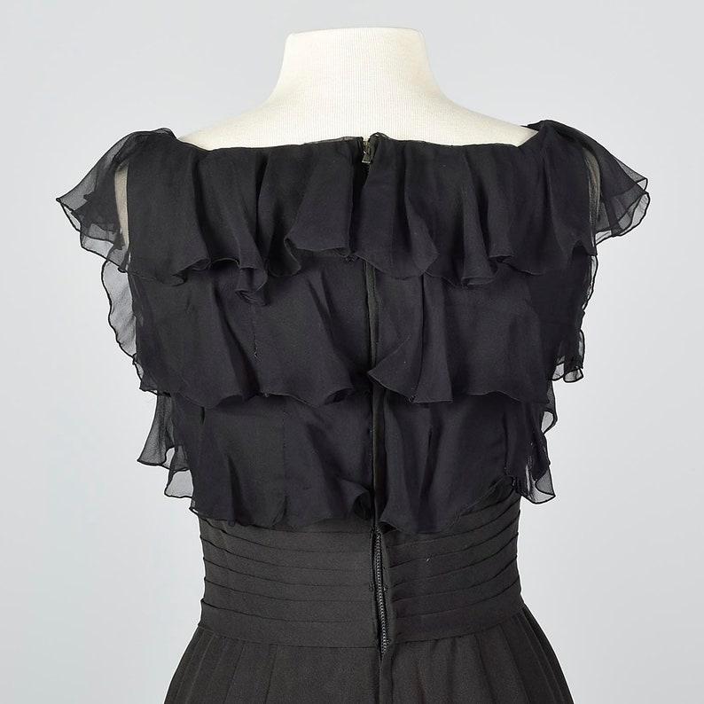 Small 1940s Little Black Dress Pencil Dress Summer Evening Dress Cocktail Dress Vintage 40s Hourglass Dress